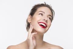 Bild des lächelnden jungen Mädchens Lizenzfreies Stockfoto