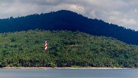 Bild des Leuchtturmes in Nordbucht-Insel Andaman, Schuss vom zellulären Gefängnis, Port Blair lizenzfreies stockfoto