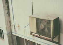 Bild des Luftkompressors auf Tageszeit lizenzfreie stockbilder
