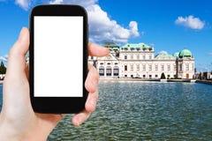 Bild des oberen Belvedere-Palastes in Wien Lizenzfreie Stockbilder