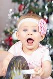 Bild des süßen Babys in einem Kleid Lizenzfreies Stockbild