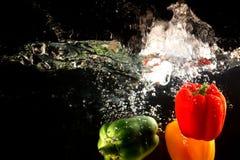 Bild des süßen roten grünen gelben Pfeffers Stockfoto