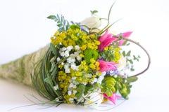 Bild des schönen bunten Blumenstraußes der frischen Blumen Stockfoto