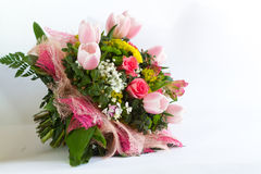 Bild des schönen bunten Blumenstraußes der frischen Blumen Stockbild