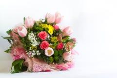Bild des schönen bunten Blumenstraußes der frischen Blumen Stockfotos