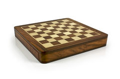 Bild des Schachvorstands ohne Stücke auf Weiß Stockbilder
