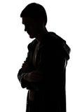 Bild des Schattenbildes des Mannes im Profil Lizenzfreies Stockfoto