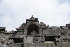 Bild des Sitzens von Buddha in Borobudur-Tempel, Jogjakarta, Indonesien stockbild