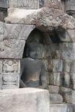 Bild des Sitzens von Buddha in Borobudur-Tempel, Jogjakarta, Indonesien stockfoto