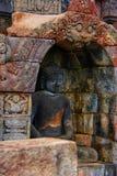 Bild des Sitzens von Buddha in Borobudur-Tempel, Jogjakarta, Indonesien lizenzfreie stockbilder