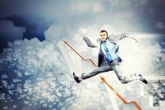 Bild des springenden Geschäftsmannes Lizenzfreies Stockfoto