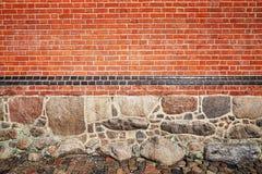 Bild des Steins und der Backsteinmauer Stockfoto