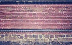 Bild des Steins und der Backsteinmauer, der Beschaffenheit oder des Hintergrundes Lizenzfreies Stockbild