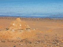 Bild des Strand-Sand-Hintergrundes - Foto auf Lager Lizenzfreie Stockfotos