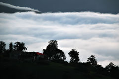 Bild des Tales des Nebels Lizenzfreie Stockbilder