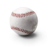 Bild des verwendeten Baseballs auf Weiß Lizenzfreie Stockfotos