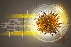 Bild des Virus 3d Stockfotos