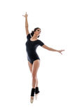 Bild des würdevollen modernen weiblichen Balletttänzers Stockfoto