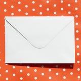 Bild des weißen Umschlags Stockfotografie