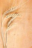 Bild des Weizens auf der Tabelle Stockfotos