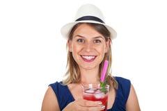 Bild einer lächelnden jungen Frau Stockbilder