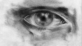 Bild einer Nahaufnahme des menschlichen Auges Stockfotografie