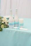 Bild einer schön verzierten Hochzeitstafel Lizenzfreie Stockfotografie