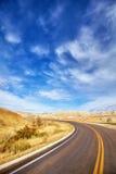 Bild einer szenischen Landstraße, Reisekonzept Lizenzfreies Stockfoto