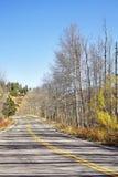 Bild einer szenischen Straße im Herbst Lizenzfreies Stockbild