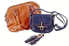 Bild einer weiblichen Handtasche eligantnoy Lizenzfreie Stockfotos