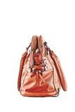 Bild einer weiblichen Handtasche eligantnoy Stockfotografie