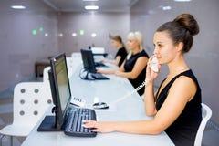 Bild eines Call-Centers Stockbild