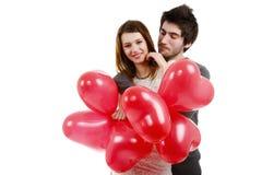 Bild eines jungen Paares, Valentinstagkonzept Stockfotos