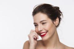 Bild eines lächelnden schönen Mädchens Stockfotos