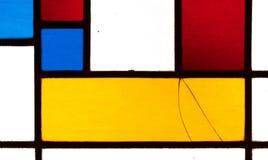 Bild eines mehrfarbigen Buntglasfensters Stockfotos
