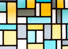 Bild eines mehrfarbigen Buntglasfensters Stockbilder