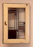 Bild eines mehrfarbigen Buntglasfensters Lizenzfreies Stockfoto