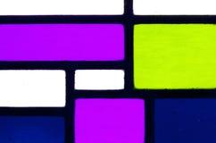 Bild eines mehrfarbigen Buntglasfensters Lizenzfreie Stockfotografie