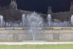 Bild eines Teils des magischen Brunnens von Montjuic in Barcelona Spanien lizenzfreies stockbild
