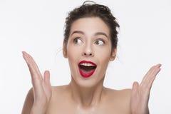 Bild eines verwirrten schönen Mädchens Lizenzfreie Stockbilder