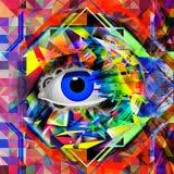 Bild för abstrakt konst Arkivfoto