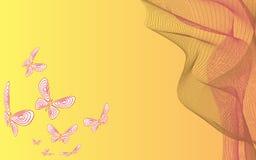 bild för bakgrundsfjärilsfractal Fotografering för Bildbyråer