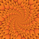 Bild för fyrkant för bakgrund för abstrakt modell för stjärnamandala dekorativ orange, modell för illusionkonstbild, bakgrundsfot stock illustrationer
