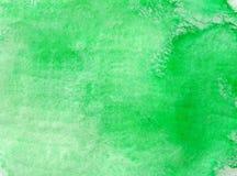 Bild för grön bakgrund för vattenfärg unik Royaltyfri Bild
