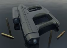 Bild 5 för kulsprutepistol AM-2 Arkivbilder