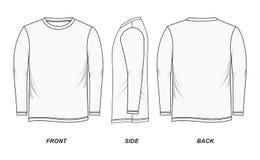 Bild för muff för skjorta för man` s lång Arkivbild