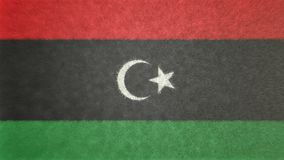 Bild för original 3D av flaggan av Libyen vektor illustrationer
