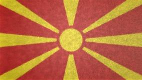 Bild för original 3D av flaggan av Makedonien royaltyfri illustrationer