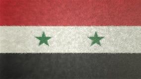 Bild för original 3D av flaggan av Syrien vektor illustrationer