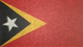 Bild för original 3D, flagga av Östtimor royaltyfri illustrationer